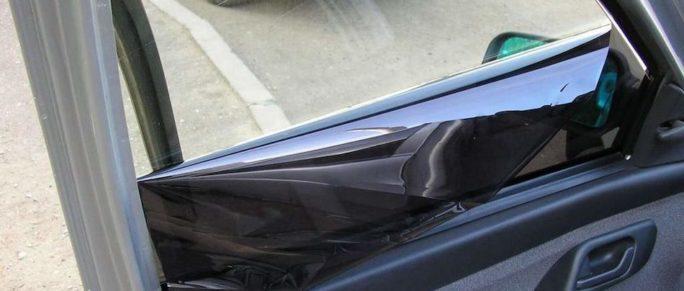 Снятие пленки с окон автомобиля